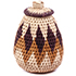 African Basket - Zulu Ilala Palm - Woven Herb Basket -  5 Inches Tall - #75957