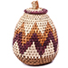 African Basket - Zulu Ilala Palm - Woven Herb Basket -  5.25 Inches Tall - #75958