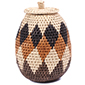 African Basket - Zulu Ilala Palm - Woven Herb Basket -  7.25 Inches Tall - #78387