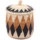 African Basket - Zulu Ilala Palm - Extra Large Herb Canister -  6.75 Inches Tall - #78783