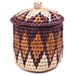 African Basket - Zulu Ilala Palm - Extra Large Herb Canister -  6 Inches Tall - #78784