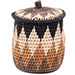 African Basket - Zulu Ilala Palm - Extra Large Herb Canister -  6 Inches Tall - #78785