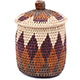 African Basket - Zulu Ilala Palm - Extra Large Herb Canister -  6.5 Inches Tall - #78786