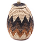 African Basket - Zulu Ilala Palm - Woven Herb Basket -  6.75 Inches Tall - #78792