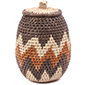 African Basket - Zulu Ilala Palm - Woven Herb Basket -  7.25 Inches Tall - #78793