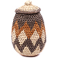 African Basket - Zulu Ilala Palm - Woven Herb Basket -  7.5 Inches Tall - #78794