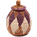 African Basket - Zulu Ilala Palm - Woven Herb Basket -  5.25 Inches Tall - #78799