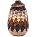 African Basket - Zulu Ilala Palm - Woven Herb Basket -  5.5 Inches Tall - #78800