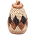 African Basket - Zulu Ilala Palm - Woven Herb Basket -  4.5 Inches Tall - #78801
