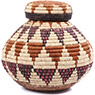 African Basket - Zulu Ilala Palm - Isichumo - 8.75 Inches Tall - #79012