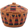 African Basket - Zulu Ilala Palm - Ukhamba Canister -  7.5 Inches Tall - #79076