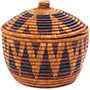 African Basket - Zulu Ilala Palm - Ukhamba Canister -  7.5 Inches Tall - #79080