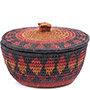 African Basket - Zulu Ilala Palm - Ukhamba Canister -  6 Inches Tall - #79081