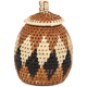 African Basket - Zulu Ilala Palm - Woven Herb Basket -  5 Inches Tall - #93989