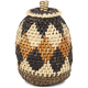 African Basket - Zulu Ilala Palm - Woven Herb Basket -  4.5 Inches Tall - #93991