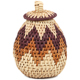 African Basket - Zulu Ilala Palm - Woven Herb Basket -  5 Inches Tall - #93992