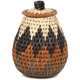 African Basket - Zulu Ilala Palm - Woven Herb Basket -  5.25 Inches Tall - #93993