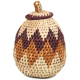 African Basket - Zulu Ilala Palm - Woven Herb Basket -  5.5 Inches Tall - #93994