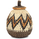 African Basket - Zulu Ilala Palm - Woven Herb Basket -  5.5 Inches Tall - #93996