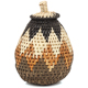 African Basket - Zulu Ilala Palm - Woven Herb Basket -  4 Inches Tall - #93997