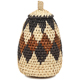 African Basket - Zulu Ilala Palm - Woven Herb Basket -  5.5 Inches Tall - #93998
