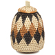 African Basket - Zulu Ilala Palm - Woven Herb Basket -  6 Inches Tall - #93999