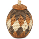 African Basket - Zulu Ilala Palm - Woven Herb Basket -  6 Inches Tall - #94000