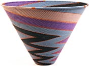 African Basket - Zulu Wire - Deep Funnel Bowl, Extra Large #26151