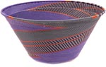 African Basket - Zulu Wire - Extra Large Funnel Bowl #34942