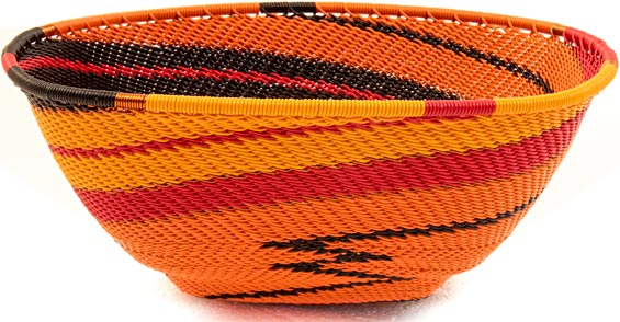 African Basket - Zulu Wire - Large Almost Square #36443