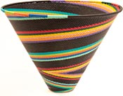 African Basket - Zulu Wire - Deep Funnel Bowl, Extra Large #36639