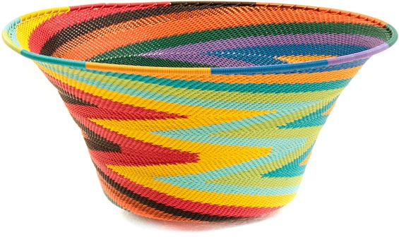 African Basket - Zulu Wire - Large Flared Bowl #36659