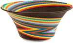 African Basket - Zulu Wire - Large Flared Bowl #36662