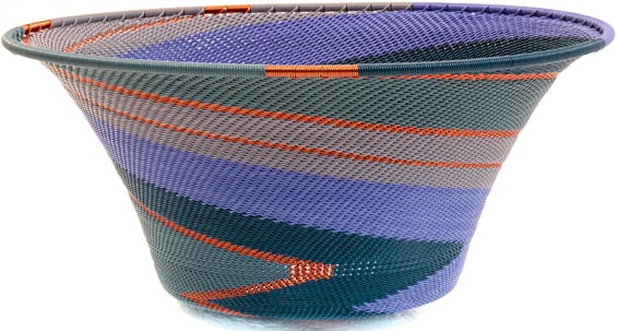 African Basket - Zulu Wire - Large Flared Bowl #37162
