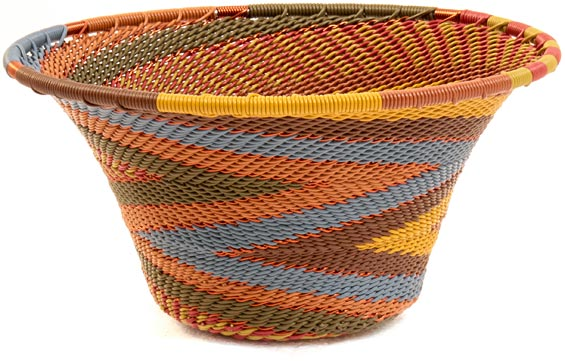African Basket - Zulu Wire - Small Flared Bowl #37166