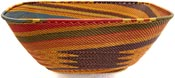 African Basket - Zulu Wire - Square Bowl, Extra Large #37200