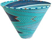 African Basket - Zulu Wire - Deep Funnel Bowl, Extra Large #37205