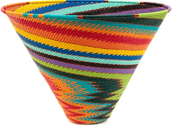 African Basket - Zulu Wire - Deep Funnel Bowl, Extra Large #38808
