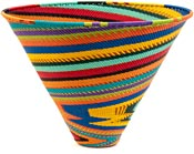 African Basket - Zulu Wire - Deep Funnel Bowl, Extra Large #38817