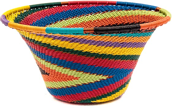African Basket - Zulu Wire - Small Flared Bowl #39774
