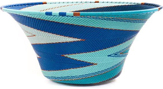 African Basket - Zulu Wire - Large Flared Bowl #44460