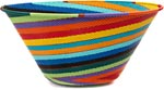 African Basket - Zulu Wire - Extra Large Funnel Bowl #45664