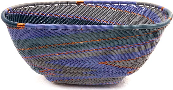 African Basket - Zulu Wire - Large Almost Square #45853