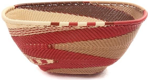 African Basket - Zulu Wire - Large Almost Square #47311