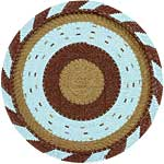 African Basket - Zulu Wire - Flat Coil Weave Plate - 12 Inches Across - #52432