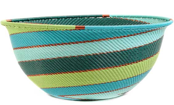 African Basket - Zulu Wire - Extra Large Bowl #53282