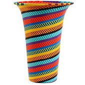 African Basket - Zulu Wire - Flared Top Vase #55512