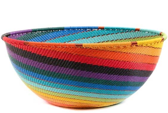 African Basket - Zulu Wire - Extra Large Bowl #56666