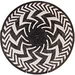 African Basket - Zulu Wire - Coil Weave Platter - 12.75 Inches Across - #60435