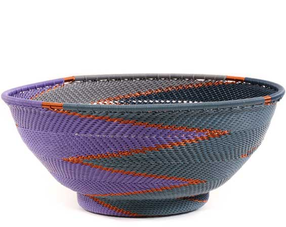 African Basket - Zulu Wire - Bowl with Base #60505